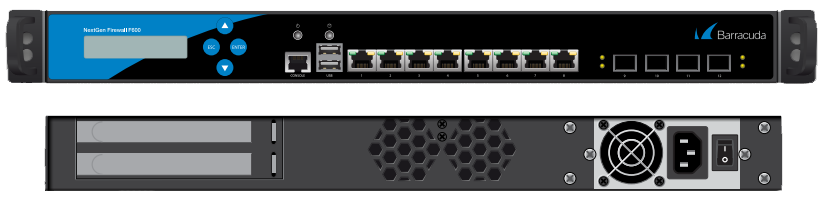 BNGIF600a.F10 - Barracuda NextGen Firewall F800 model CCF (12x1 GbE copper + 4x1 GbE SFP (fibre) network ports and dual power supply)