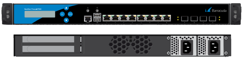 BNGIF600a.F20 - Barracuda NextGen Firewall F800 model CCE (12x1 GbE + 4x10 GbE SFP+ (fibre) network ports and dual power supply)