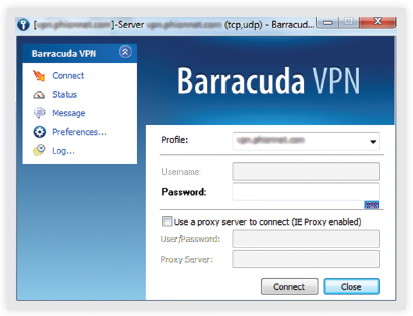 Barracuda VPN Client for Windows 7